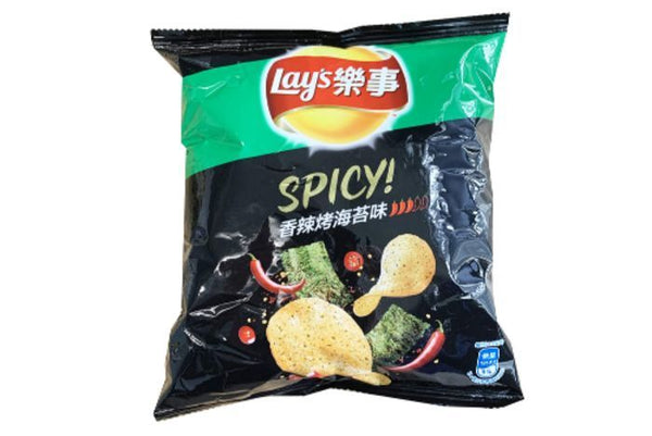 Bag of Lays spicy roasted seaweed chips