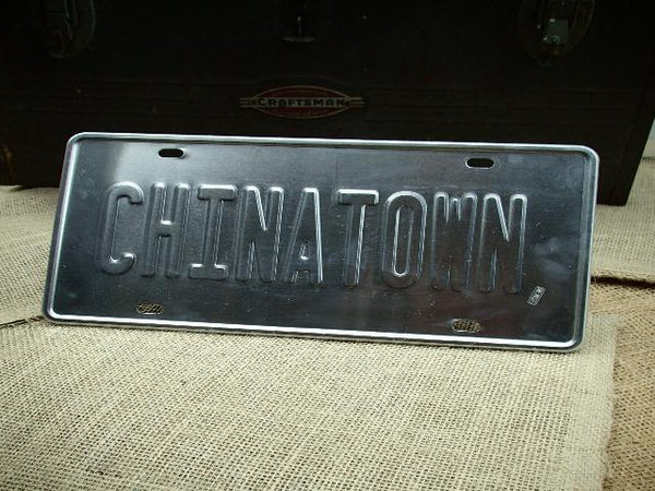 Chinatown License Plate