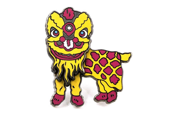 Festive Chinese Lion Dancer Pin