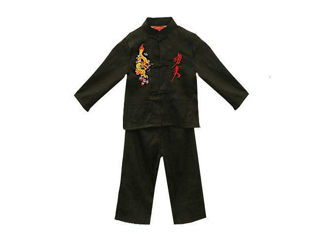 Jacquard Outfit w. Dragon & Kung Fu Emboridery
