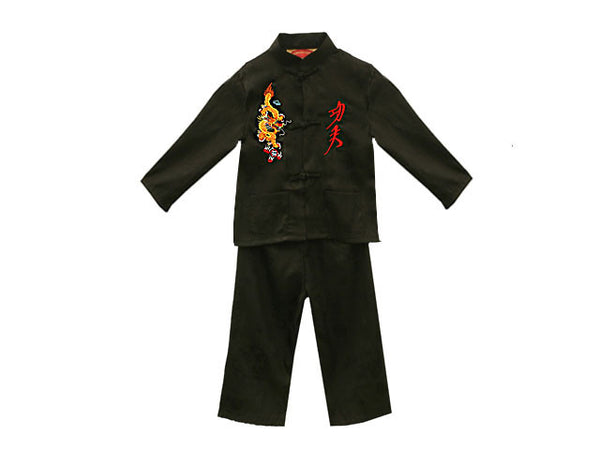 Jacquard Outfit w. Dragon & Kung Fu Embroidery