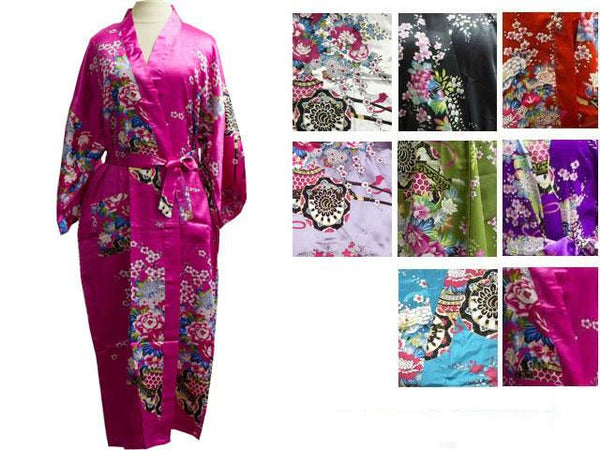 Floral Print Robe - Ankle Length