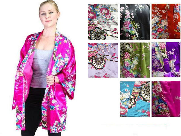 Floral Print Robe - Thigh Length