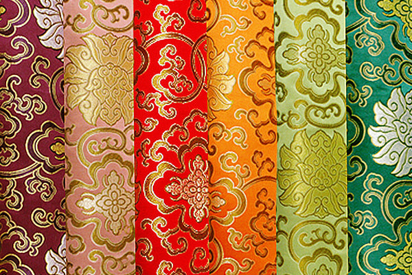 Lotus Design Brocade Fabric