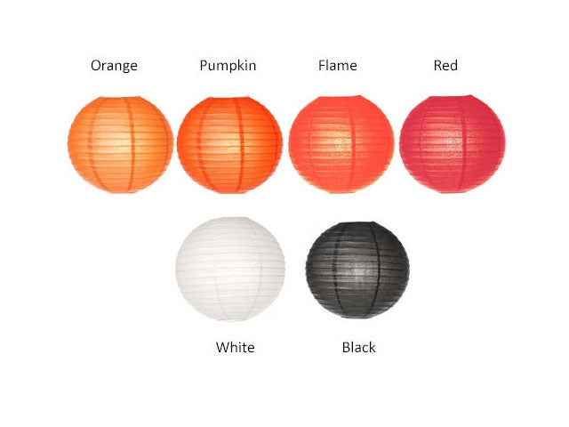 Wire Frame Spherical Paper Lantern (Color Group 1)