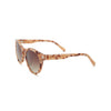Light orange tortoiseshell sunglasses, side view
