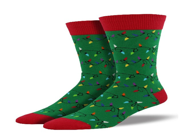 Men's Novelty Socks: Christmas Lights