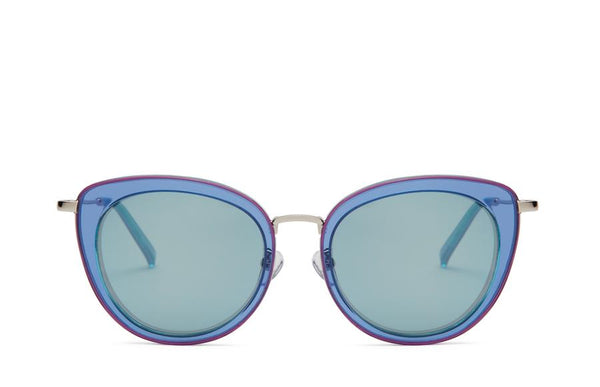 Front view of Mira azure sunglasses