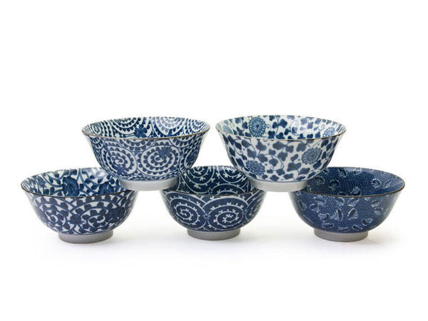 Blue Don Karakusa Design Bowl - 6 in.