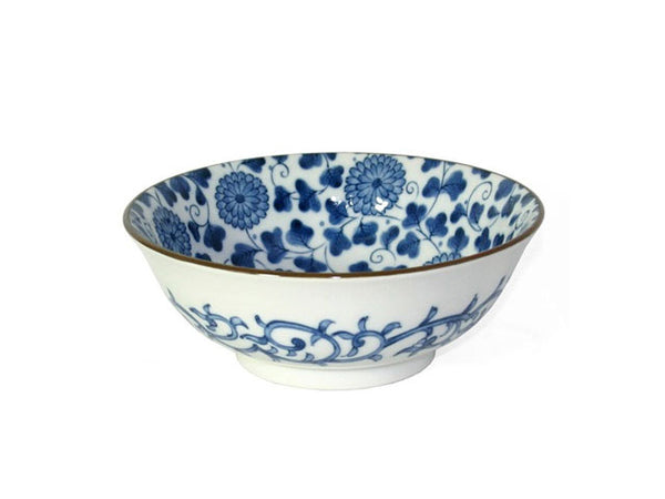 Kiku Karakusa Design Ceramic Bowl - 7.5""