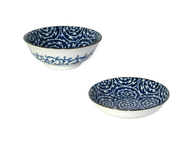 Ume Takokarakusa Design Ceramic Bowls & Dishes