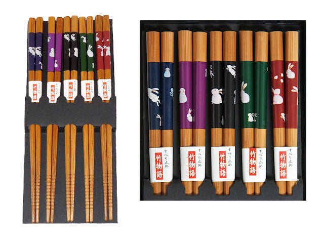Rabbit Chopsticks Set  (5 pairs)