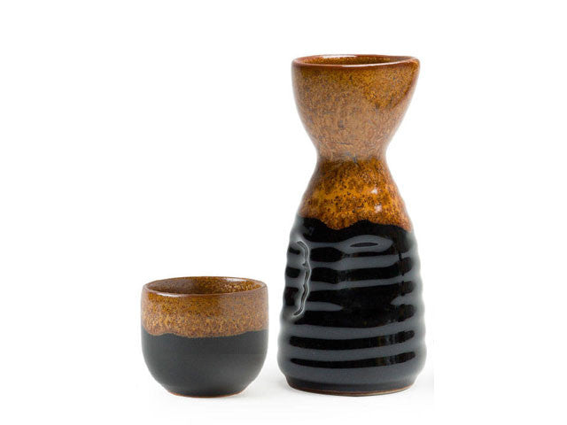 Golden Tenmoku Sake Bottle / Cup