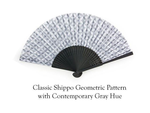Elegant Bamboo Frame Fabric Folding Hand Fan