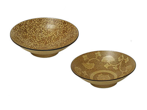 Antique Sepia Design Serving Bowl - 9.75 inch