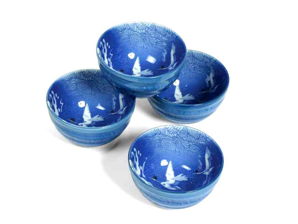 Cranes Design Bowl Set  (5.25 inch)