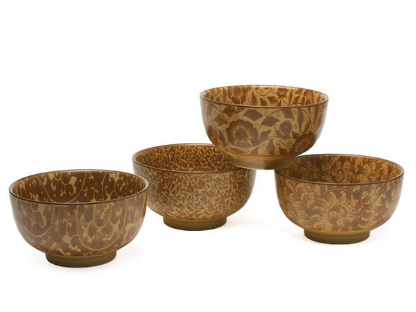 Antique Sepia Vines Bowl Set - 5 inches