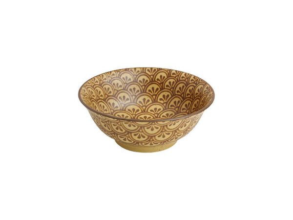 Antique Sepia Mosaic Bowl - 8""