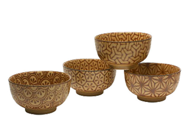 Antique Sepia Mosaic Bowl Set - 5 inches