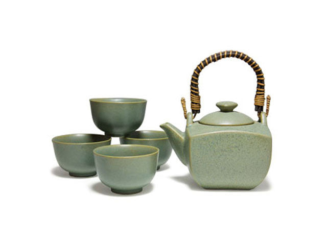 Green Speckled Tea Set ( Out of Stock )