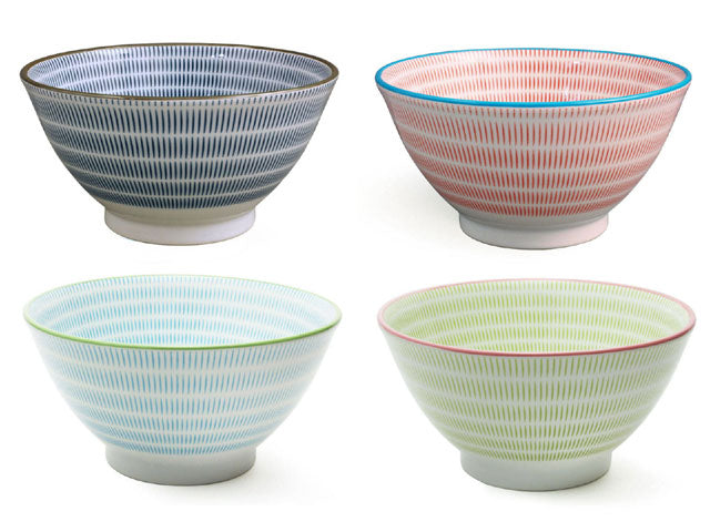 Sendan Pattern Colors Rice Bowl - 7.75""