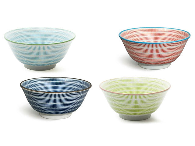 Sendan Pattern Colors Ceramic Bowl - 5.75""