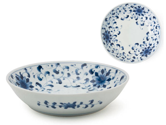 "8.25"" Blue on White Design Serving Bowl"