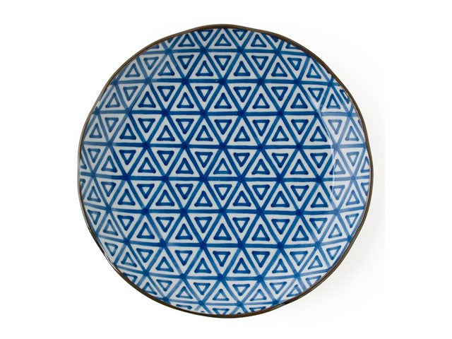 Monyou Blue on White Dinner Plate - 10in.