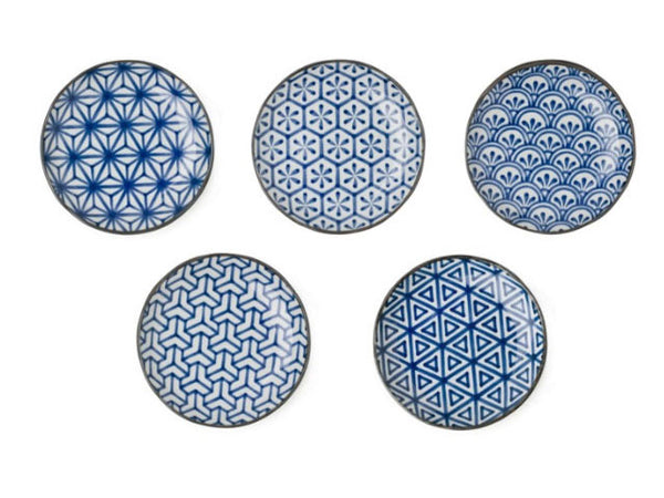 Blue on White Ceramic Shallow Plate - 6.5""