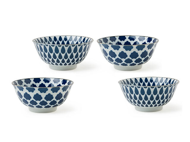 Blue on White Bowl Set  (6 inch)