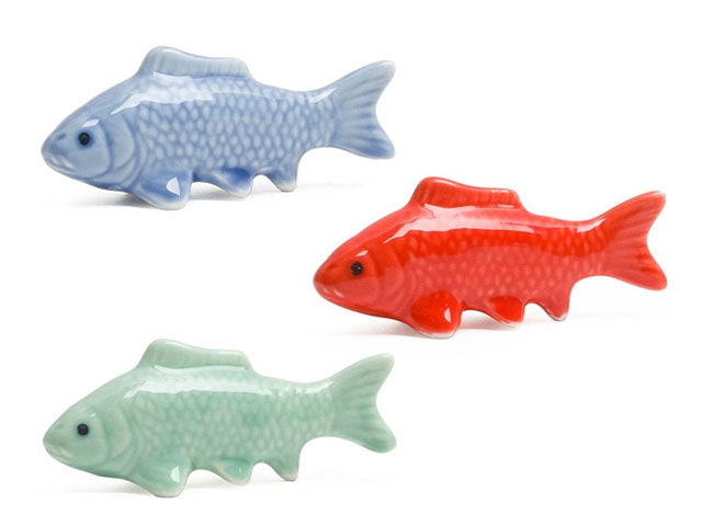 Carp Fish Design Porcelain Chopsticks Rest