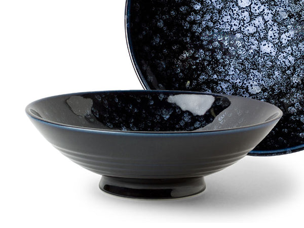 Uchu Deep Blue Design Serving Bowl - 9.75""