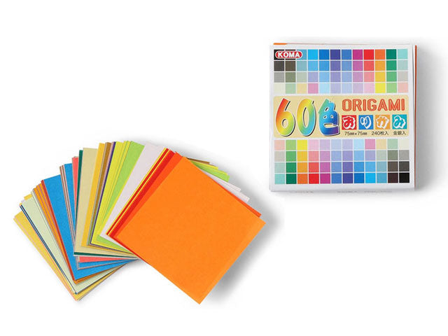 Assorted Solid Color Origami Paper - 3""