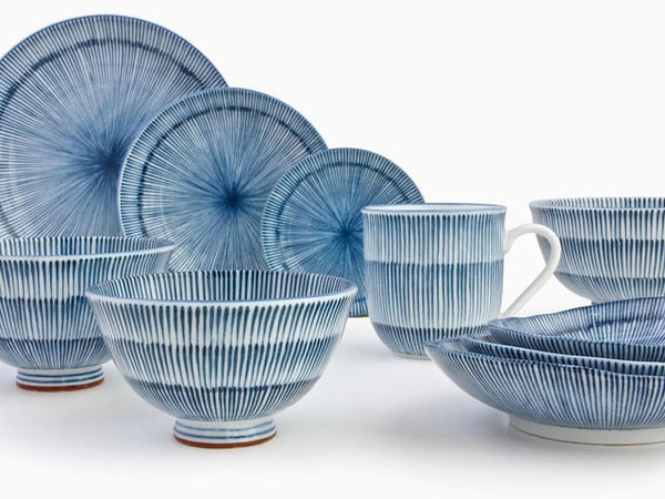 Hoso Tokusa Ceramic - Blue Grass Series