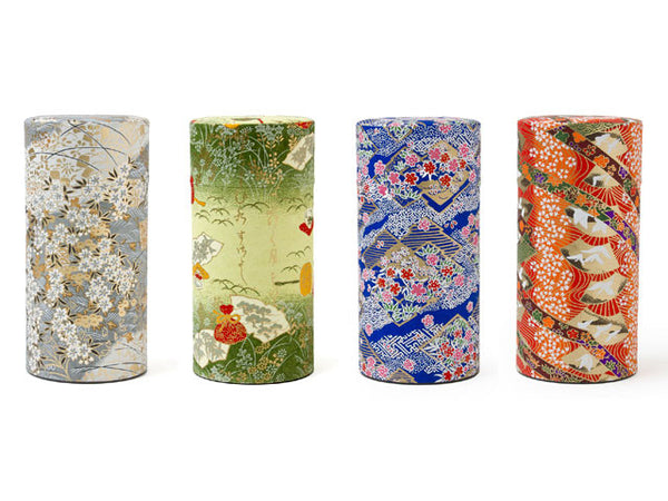 Classic Kimono Print Tea Canister ( Out of Stock )