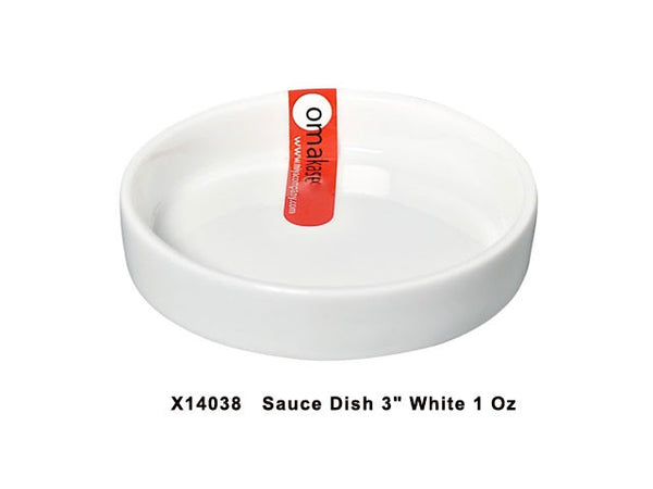 Omakase White Ceramic Sauce Dish - Round ( Out of Stock )