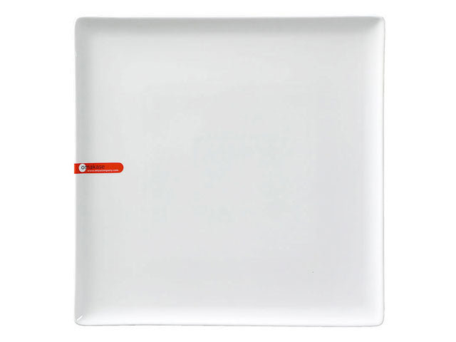 Omakase White Ceramic Serving Plate - Square