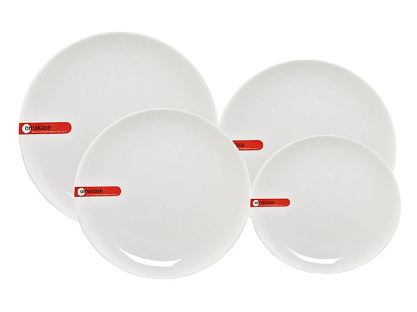 Omakase White Ceramic Serving Plate - Round
