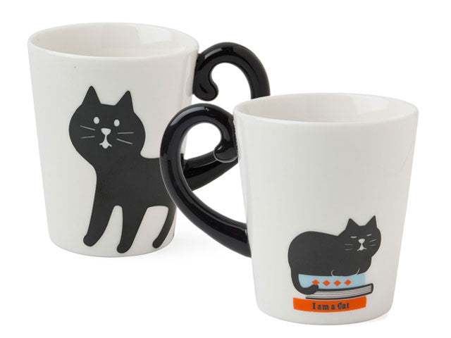 Cat Tail Handle Design Ceramic Mug