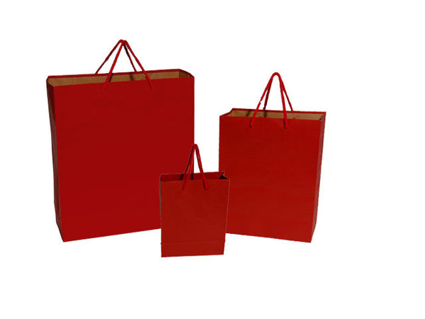 Paper Gift Bag - Maroon Red