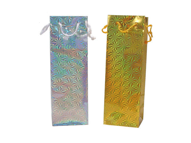 Metallic Paper Wine Bottle Gift Bag