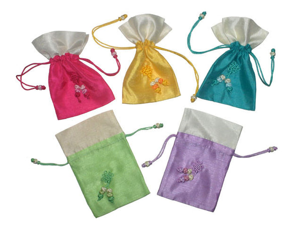 Decorated Drawstring Pouch (3pcs/Set)