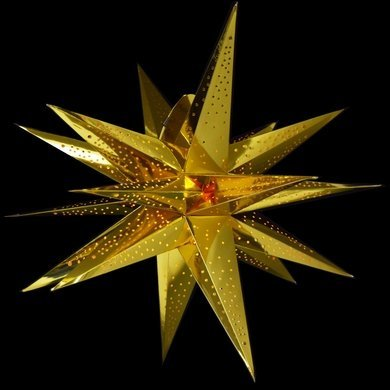 Glossy Multi-point Paper Star Lantern Ornaments