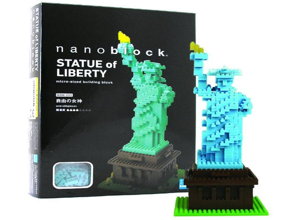 Nanoblock model of Statue of Liberty with box