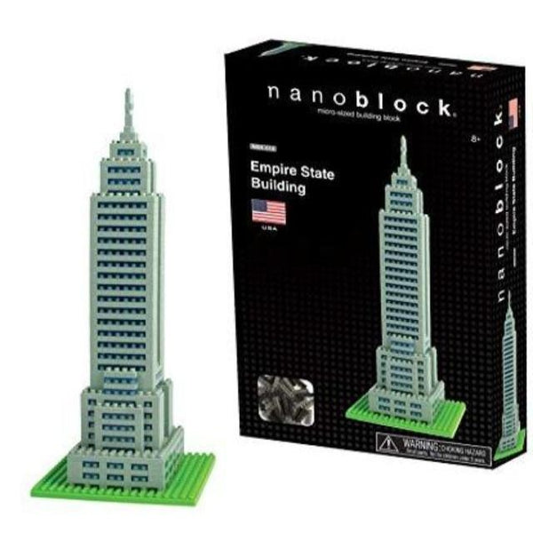 Nanoblock model of Empire State Building with box