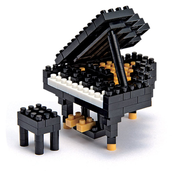 Nanoblock model of grand piano with bench