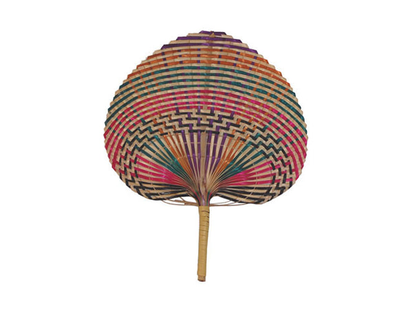 Multi-color Braided Bamboo Fan