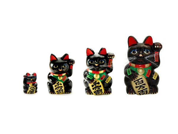 Black Lucky Cat (Maneki-Neko Welcoming Cat)