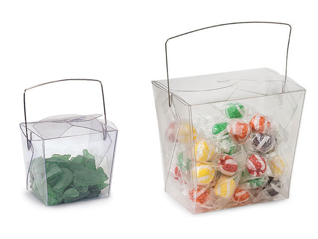Clear Translucent Chinese Take Out Box - Pack of 6