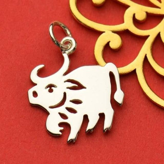 Sterling Silver Chinese Zodiac Charm: Ox (Available Feb. 1)